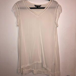White Short sleeve loose shirt